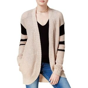 Womens Cardigan Sweater Open Front Long Sleeves M